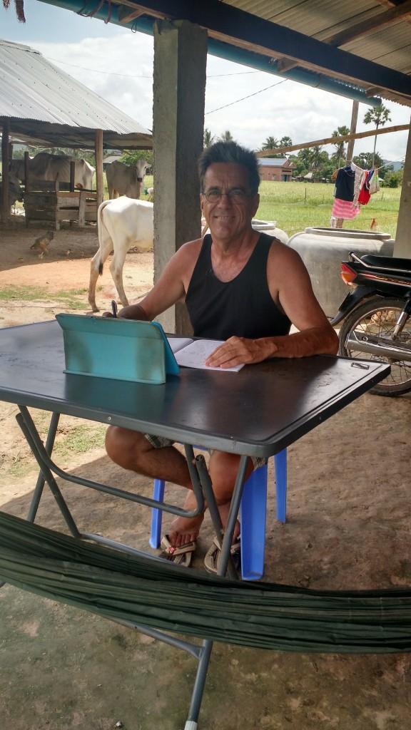François fait des maths à Kampot