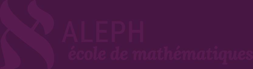 Logo Ecole Aleph, école de mathématiques